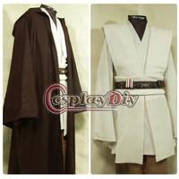 Free Shipping Customized Star Wars Obi-Wan Kenobi Jedi Tunic Robe Costume Outfit Movie Cosplay Costume