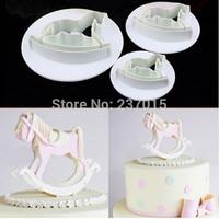 3pcs Horse Fondant Cake Cookie Cutter Mould Paste Sugarcraft Decorating Mold Set