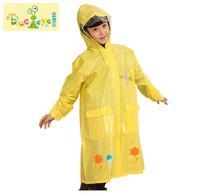 Child raincoat poncho male female student child poncho set school bag belt