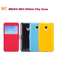 MEIZU MX3 Original Nillkin Excellent Series Luxury Windows Case Flip Protective Leather Cover Case Free Shipping