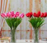 10pcs/lot  Tulip Artificial Flowers Wedding Home Decorative Flowers Home Decoration Plastic Flowers (no vase)  MA1601