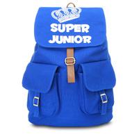 Super Junior canvas backpack  cover mochila travel laptop bags teenagers school bag element women and man backpacks #0120