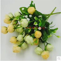 5 Bouquet Artificial Flower silk peony tea buds Flower simulation Flowers for wedding party home decorative MA1511