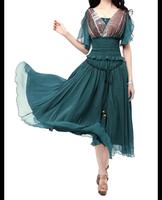 Wholsale 2014 Autumn Elegant Swing hem chiffon skirt Ladies skirt