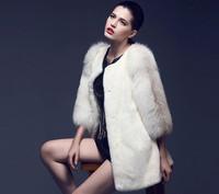 high quality 2014 new fashion women's winter clothing imitation mink fur coat outerwear long coats plus size 5XL overcoat