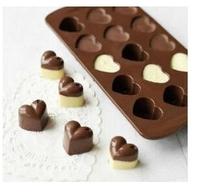 10pcs/lot New 15 Hearts Shape Silicone Cake Bakeware Tools Chocolate Ice Mold Cake Decoration Jelly Pudding  CM0088