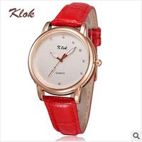 KLOK brand, new, high-end fashion, female casual watches ,women dress watches