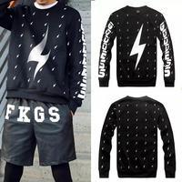 2014 Harajuku Versa Hip-hop men women's cartoon parody of lightning 3d print pullovers GIV Brand Galaxy Sweatshirts Hoodies Tops