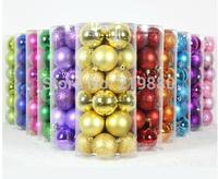 Wholesales 24PCS/Lot Christmas Decoration Lighting 6cm Christmas Decoration Ball Christmas Tree Ornament Multi-color Gift