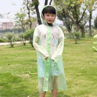 One piece child raincoat fashion thickening belt school bag