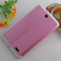 Free shipping High Quality PU Leather Protective Case Skin Cover For Alcatel One Touch Pop 8 P320X Tablet case 40pcs