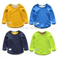 Children's clothing 2014 autumn male female child top basic baby child T-shirt long-sleeve shirt