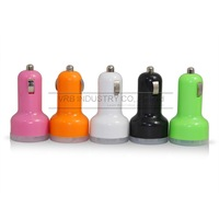 5V 1.5A dual USB Car Charger for iPhone ipad 4 4S 5 5S for Samsung Cell Mobile Phone vehicle Charger Adapter VRB Wholesale
