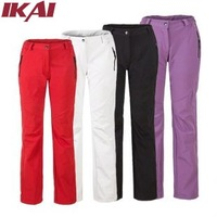 IKAI Fashion Women Cotton Pants Free Shipping Women's Outdoor Fleece Slim Soft Pants Hiking Sports Breathable Trousers OUT415-5