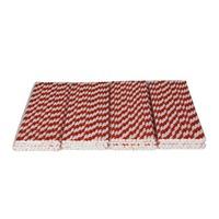 Free shipping 25Pcs dark red stripe kraft Paper Drinking Straws Party Decor Wedding diy straw Birthday Holiday DropShipping