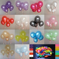 HOT SALE Free100pcs/lot 10inch 1.2g/pcs baloes Latex Helium balloons Thickening Pearl Wedding Party Birthday Balloon colors