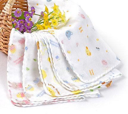 Baby Gauze Muslin Washcloth Infant Wipe Sweat Absorbing Towel 15pc/lot Kid soft Handkerchief 30cm x 30cm(China (Mainland))