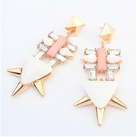 Europe and the United States punk geometry character earrings#108931