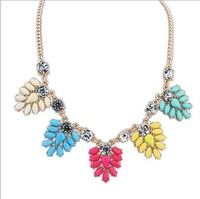 2014 New Fashion Brand luxury choker statement necklace women  Vintage Necklaces & Pendants Crystal Woven Necklace 54