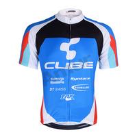 Freefisher Men's Cycling Bicycle Short Sleeve Jersey/Shorts/Bib Shorts Set Blue Cube