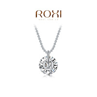 ROXI Christmas Gift New Fashion Jewelry Platinum Plated Statement Luxury Round Stone Necklace Women Party Wedding Free Shipping