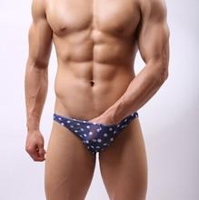 genuine men sexy underwear men's sexy underwear briefs supplies transparent gauze Briefs(China (Mainland))