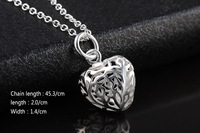 GSSPP017S Silver Valentine's day gift! pendant necklace,high quality silver double Heart necklace,fashion neckalce jewelry