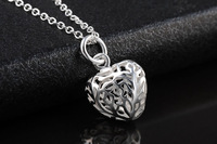 GSSPP017S fashion silver plated women doubles hearts necklaces,fashion jewelry,women necklace ,Girls Birthday gift,wholesale