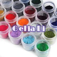 New 24 Colors Jumbo Size Nail Decoration Fuzzy Flocking Velvet Nail Powder For Acrylic UV gel Nail Art tools Tips