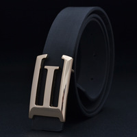 Male belt male all-match strap casual fashion belt blue formal strap e letter buckle