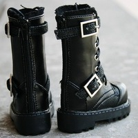 [wamami] 18# Black 1/3 SD DOD BJD Dollfie Leather Boots/Shoes