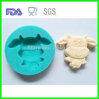12 Zodiac  Animal Shaped Ox Candy Chocolate Soap Cake Silicone Molds