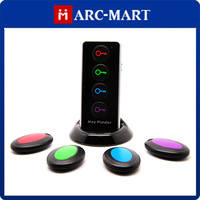 Remote Wireless Key Finder 1 Transmitter and 4 Receivers with LED Flashlight Find Lost Keys#MF038