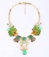 Women's Luxury Statement Choker Necklac Design Flower Pendant Necklace Chunky Fashion Choker Statement 2014 Free Shipping