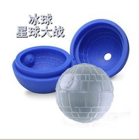 100pcs/lot Death star wars Silicone Ice Tray Cube Mold Maker Ice ball Mould bar party freezing Free Shipping
