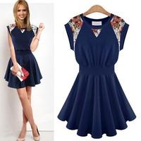 Women's summer new sleeveless dresses Europe and America brand print dresses