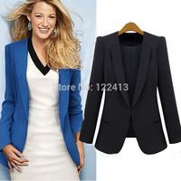 Blazer Senhoras Blazers Women Plus Size XL XXL 3XL Autumn Winter Coat Woman Suits Lady Jackets Blaser Feminino Hidden Breasted