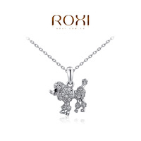 ROXI Christmas Gift New Fashion Jewelry Platinum Plated Statement Cute Dog Necklace For Women Party Wedding Free Shipping