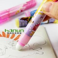 school eraser lipstick shape useful high quality 4 pcs /lot pencil eraser for school supplies