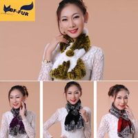 High Quality 11 Colors Genuine Rex Rabbit Fur Scarf Women Real Natural Scarves Muffler Cape Wraps Warm Winter Shawl Promotion