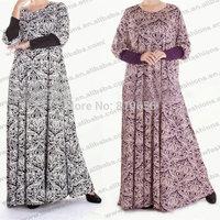 Free Shipping Plus Size Cotton Muslim Woman abaya and jilbab MU10026