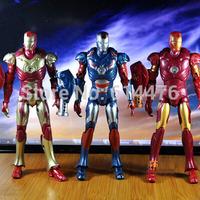 Free shipping 100sets/lot The Avenger Marvel Iron Man 3 Action Figure Superhero Iron Man PVC Figure Toy Chritmas Gift
