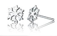 Korean Fashion Classic 925 Sterling Silver Cute Snowflake Stud Earrings Snow Flower Silver Earrings for Women Fashion Jewelry