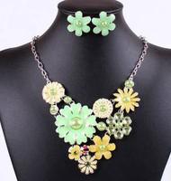 Fashion Jewelry Sets Hight Quality 5 Colors Resin Beads Womman Dress Chocker Collar Free Shipping Wedding Jewelry
