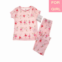 2014 Lastest Carters Baby Girl Cotton 2-piece Summer Pajamas Pant Suit Sleepwear Nightclothes Pyjamas Set 12-24m, YW