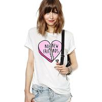 Richcoco fashion print o-neck short-sleeve T-shirt d393