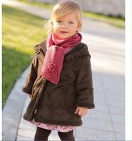 Fashion 2014 Autumn/Winter  Children Coat Hoodies Girls Jackets Long Children Outerwear Casaco Infantil Kids Winter Clothes