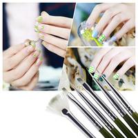 Professional 6pcs/Set Polish Brush Set Gel UV Nail Print Brush Kit Nail Art Design Painting Tool Pen