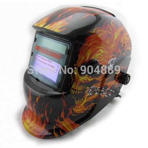 Skull Solar auto darkening TIG MIG MMA electric welding mask/helmet/welder cap/we