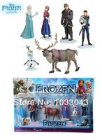HOT Classic toys 6pcs/set Frozen action figure peppa pig Figure Play Set Anna Elsa Hans Kristoff Sven Olaf for kid baby toy